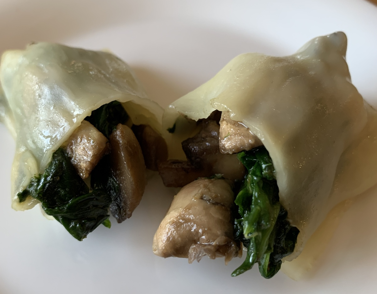 Vegetarian Spinach And Mushrooms
