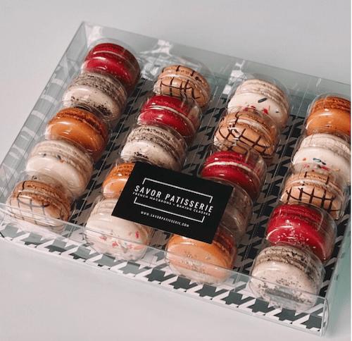 Savor Patisserie macaron package