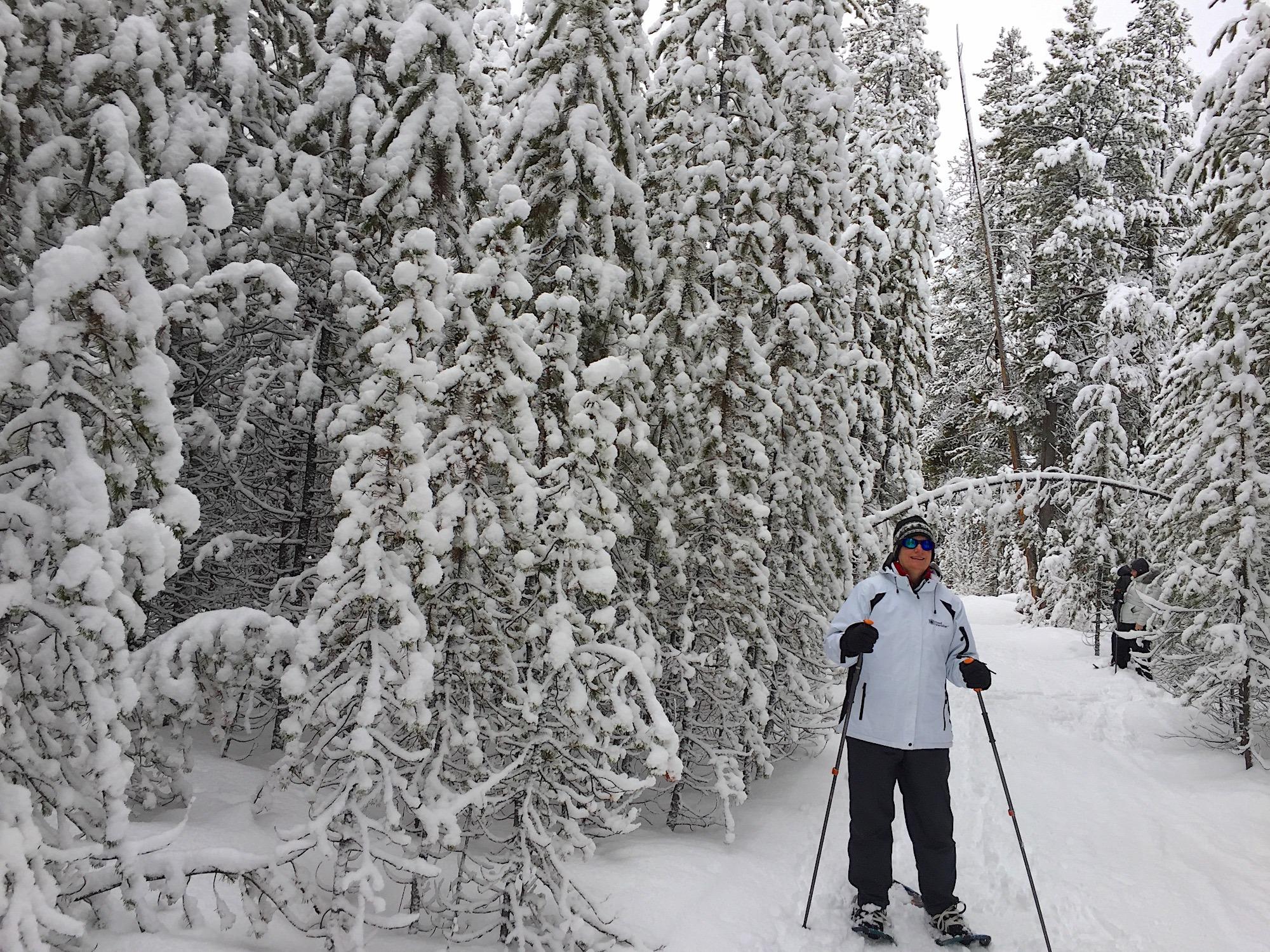 Snowshoeing in Yellowstone