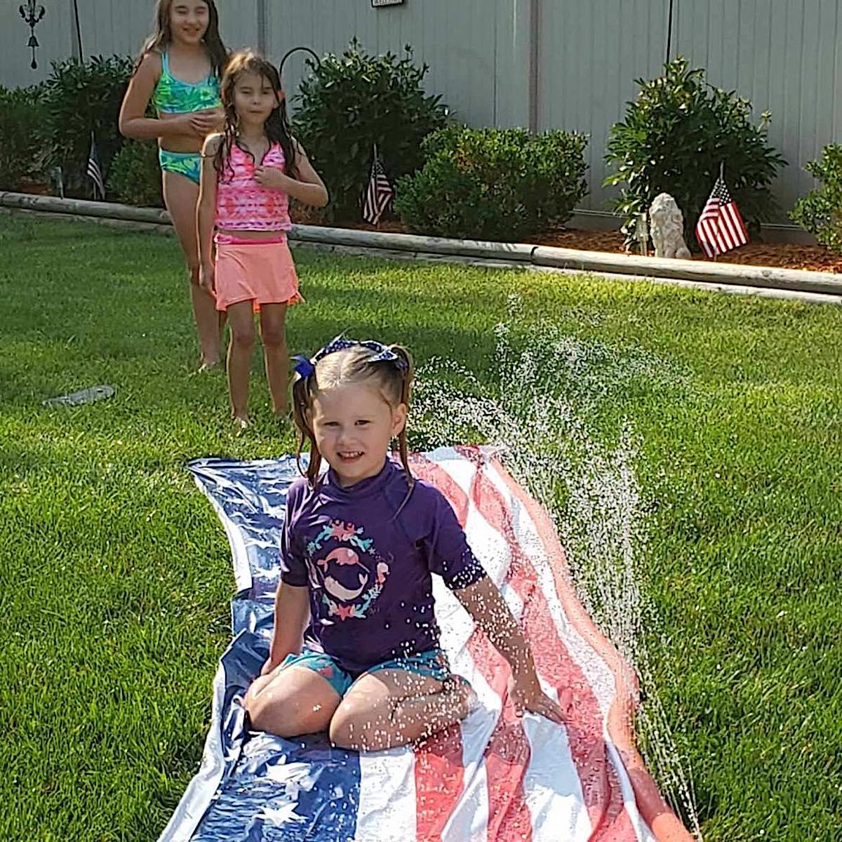 Summer Fun Stars snd Stripes Water Slide